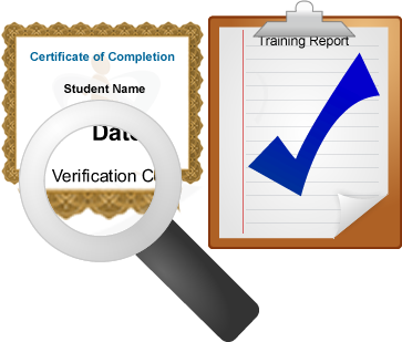 Training completion tracking and reporting